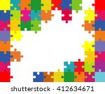 vector abstract colorful... | Shutterstock .eps vector #412634671