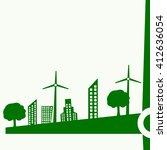 vector of ecological city... | Shutterstock .eps vector #412636054