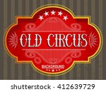 old circus background. gold... | Shutterstock .eps vector #412639729