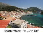 midday heat in parga  greece | Shutterstock . vector #412644139