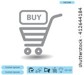 shopping cart  basket  icon | Shutterstock .eps vector #412644184
