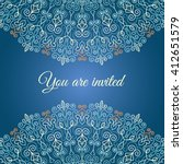 blue vector invitation with...   Shutterstock .eps vector #412651579