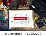 assessment concept for business ... | Shutterstock . vector #412653277
