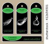template for label design ... | Shutterstock .eps vector #412654501