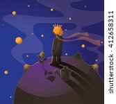 little prince with a rose...   Shutterstock .eps vector #412658311