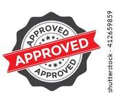 approved stamp vector | Shutterstock .eps vector #412659859