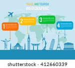 travel and tourism. infographic ... | Shutterstock .eps vector #412660339