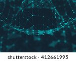 abstract polygonal space low... | Shutterstock . vector #412661995