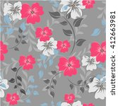 seamless flowers pattern | Shutterstock .eps vector #412663981