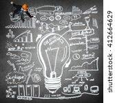 man of construction profession | Shutterstock . vector #412664629