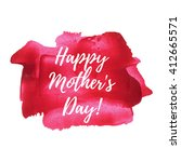 happy mother's day sweet red... | Shutterstock .eps vector #412665571