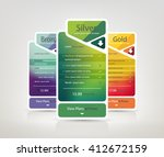 pricing plans for websites and... | Shutterstock .eps vector #412672159
