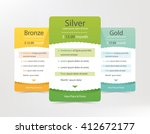 pricing plans for websites and... | Shutterstock .eps vector #412672177