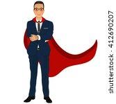 super businessman. business... | Shutterstock .eps vector #412690207