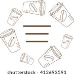 frame of coffee cups.vector...