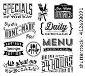vintage menu designs   set of... | Shutterstock .eps vector #412698091