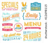 vintage menu designs   set of... | Shutterstock .eps vector #412698115