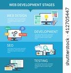 flat set of concept web... | Shutterstock . vector #412705447