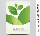 vector eco flyer  poster ... | Shutterstock .eps vector #412706791