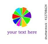 colored sun icon. vector... | Shutterstock .eps vector #412708624