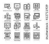 seo   usability icons set 2  ... | Shutterstock .eps vector #412711939