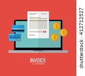 invoice design. business icon.... | Shutterstock .eps vector #412712527