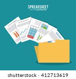 spreadsheet design  business... | Shutterstock .eps vector #412713619