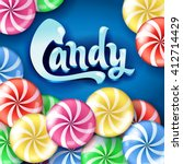 sweet lollipop candy colorful... | Shutterstock .eps vector #412714429