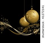 Golden Christmas Bauble With...