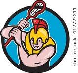 illustration of a gladiator... | Shutterstock . vector #412722211
