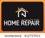 home repair vector logo design | Shutterstock .eps vector #412727011