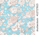 seamless pattern with different ... | Shutterstock .eps vector #412727815
