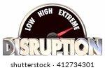 disruption change adapting new... | Shutterstock . vector #412734301