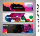 set of flyer  brochure design... | Shutterstock .eps vector #412735645