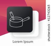 pot line icon | Shutterstock .eps vector #412743265