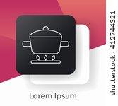 pot line icon | Shutterstock .eps vector #412744321