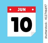 calendar icon flat jun 10