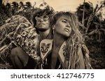 Attractive Couple Of Hippie...