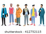 beautiful young mens in fashion ... | Shutterstock . vector #412752115