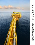 offshore construction platform... | Shutterstock . vector #412755145