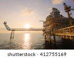 offshore construction platform... | Shutterstock . vector #412755169