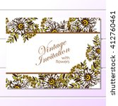 romantic invitation. wedding ... | Shutterstock .eps vector #412760461