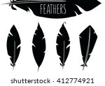 feathers | Shutterstock .eps vector #412774921