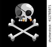 cartoon jolly roger. pirates... | Shutterstock .eps vector #412785871