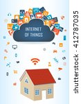 internet of things concept and... | Shutterstock .eps vector #412787035