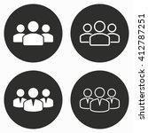 people vector icon.... | Shutterstock .eps vector #412787251