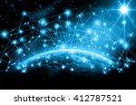 part of earth with network line ... | Shutterstock . vector #412787521