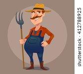 happy friendly character ... | Shutterstock .eps vector #412788925