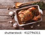 french food  chicken with forty ... | Shutterstock . vector #412796311