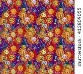 flower pattern. seamless...   Shutterstock . vector #412809055